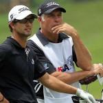 Steve và Scott tại giải U.S. Open. Hình chụp: Brian Wacker, PGATOUR.COM