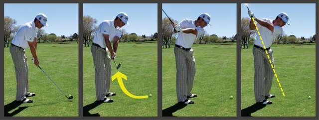 vung gay chuan Hướng dẫn đánh gậy sắt khi đánh golf (phần 2)