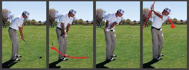 vung gay qua sau Hướng dẫn đánh gậy sắt khi đánh golf (phần 2)