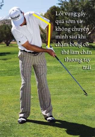 chicken wing 2 Hướng dẫn đánh gậy sắt khi đánh golf (phần 4)