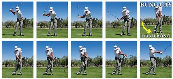 danh bong voi gay sat Hướng dẫn đánh gậy sắt khi đánh golf (phần 4)