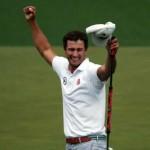 Adam Scott ăn mừng chiến thắng major đầu tay. Ảnh: Andrew Redington/Getty Images
