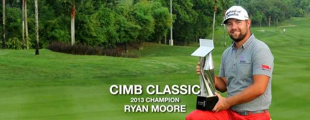 Ryan Moore – vô địch CIMB Classic 2013. Hình chụp: Ban tổ chức