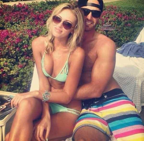 Dustin Johnson và hôn thê Paulina Gretzky. Ảnh: Instagram