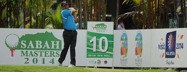 Lão tướng Frankie Minoza từ vị trí đồng hạng 3 sau vòng 1 đã lên vị trí hạng nhì sau vòng 2, cách Duy Nhất 2 gậy. Hình chụp: Asean PGA Tour