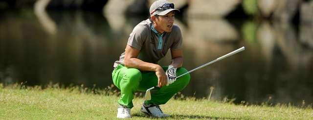 Tay golf người Thái Lan, Sattaya Supupramai được dự đoán sẽ cạnh tranh quyết liệt với Duy Nhất ở vòng 2. Hình chụp: Asean PGA Tour