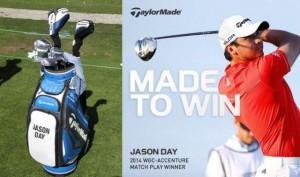 Jason Day là đại diện tiêu biểu của TaylorMade. Ảnh: TaylorMade Golf