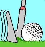 Trong một cú đánh dày, gậy của người chơi cắt xuống mặt cỏ trước khi chạm bóng. Hình vẽ: William Glessner
