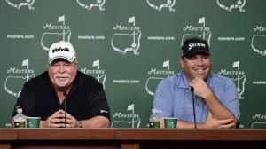 Craig Stadler và con trai Kevin trở thành cặp bố - con đầu tiên thi đấu tại Masters. Hình chụp: Masters.