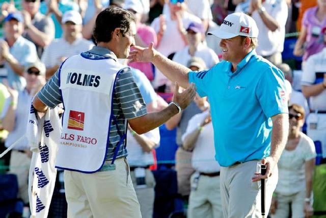Homes có chiến thắng PGA Tour thứ 3 tại Wells Fargo 2014. Hình chụp: Bob Leverone